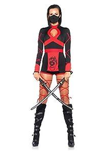 Leg Avenue- Dragón Ninja Mujer, Color negro y rojo, Medium (EUR 38-40) (8540102011)