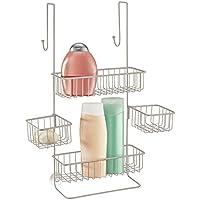 mDesign - Estante-rinconero autónomo; para mesada de cocina, alacena, gabinete - Cromado/plateado