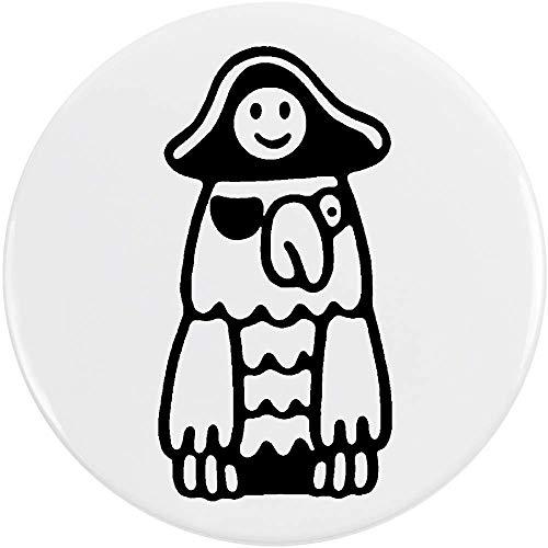 Azeeda 77mm 'Piraten Papagei' Pin Knopf-Abzeichen (BB00050500) -