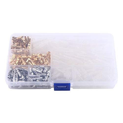 Rundsteckverbinder - 100 Paare 3,9 mm Motorrad Messing männlich & weiblich Drahtklemmen Steckverbinder mit Isolierhülse Quad Crimp Tool