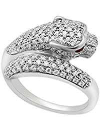 Lolls 1.74 CT White Cubic Zirconia Sterling Silver 14K White Gold Over Designer Ring [AMR1312_W_Lolls]