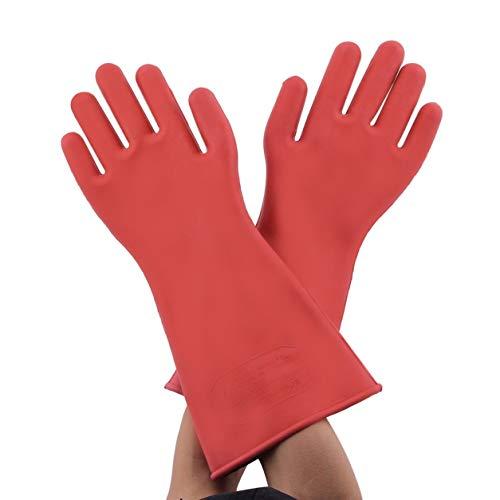 guanti elettricista 1 paio di guanti elettrici professionali ad alta tensione 12kv ad alta tensione. Guanto di sicurezza per elettricista in gomma da 40cm