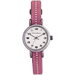 TokyoBay t394-gr Damen-Edelstahl bicolor Nylon Band weiß Zifferblatt Smart Watch