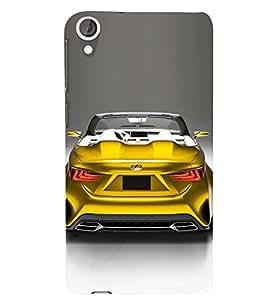 PRINTSWAG TELLOW CAR Designer Back Cover Case for HTC DESIRE 826