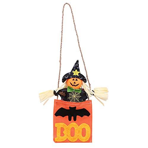 SCRG Halloween Dekorationen Cartoon Sunny Puppen Hanfseil Tür Atmosphäre Anordnung Hexe Anhänger Hängende Dekoration