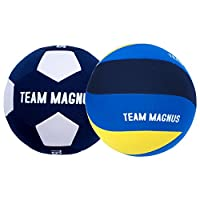 I palloni da spiaggia per bambini (da pallavolo e calcio) di Team Magnus sono perfetti per le giovani promesse. Con un peso di soli 220 grammi, questa palla è ancora sufficientemente leggera per non intimidire un giocatore alle prime armi: an...