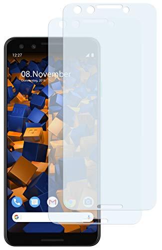 mumbi Schutzfolie kompatibel mit Google Pixel 3 Folie klar, Bildschirmschutzfolie (2x)