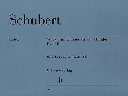 Werke für Klavier zu vier Händen, Band III