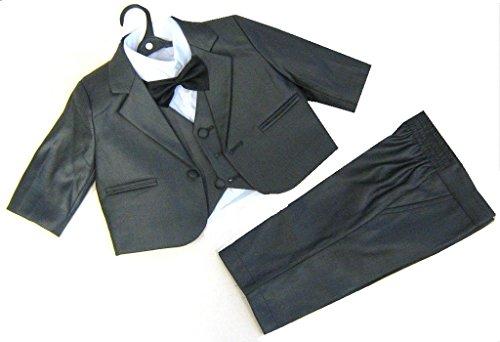 5tlg. schicker Taufanzug, Baby-Anzug, anthrazit Gr. 86 (18 Mon.)