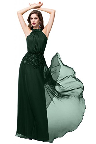 Sunvary Sweetheart Chiffon ricamo discendente abiti Pageant Gowns Verde scuro
