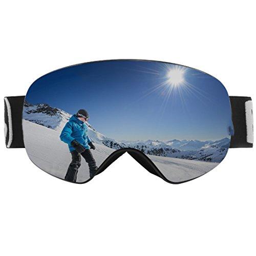 LUHUIYUAN Erwachsene Skibrille Für Männer und Frauen Sphärische Entfernbare Linse UV-Anti-Fog...