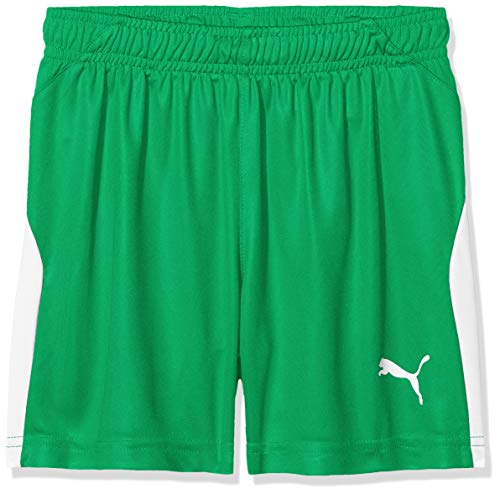 PUMA Kinder Liga Shorts, Bright Green White, 140