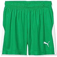 Puma Ligas Pants, Unisex niños, Bright Green/White, 176