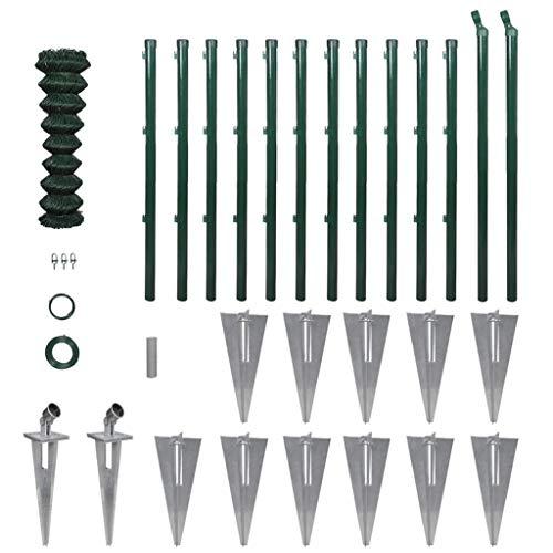 vidaXL Kit de Grillage avec Supports à Enfoncer et Accessoires 0,8x25m Jardin