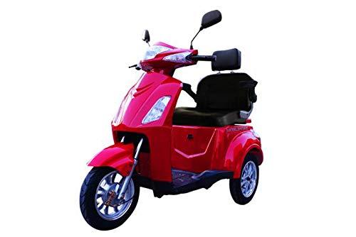 elektroroller senioren Elektromobil VITA CARE 1000 Seniorenmobil E-Roller E-Scooter, Rot