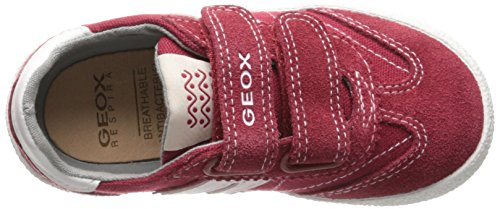 Geox - JR Kilwi Boy - Baskets Basses - Garçon - Multicolor (Red/Off White)