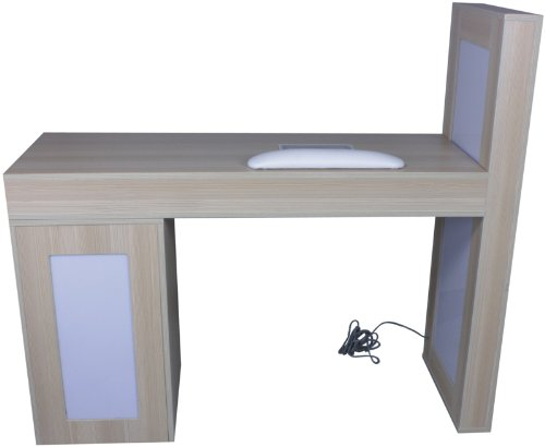FIGARO Maniküretisch mit Absaugung und Passivbeleuchtung birke - 3