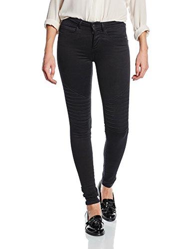 ONLY Damen Skinny Jeanshose onlROYAL REG SK BIKER JEANS PIM600 NOOS, Gr. 34/L30 (Herstellergröße: XS), Schwarz