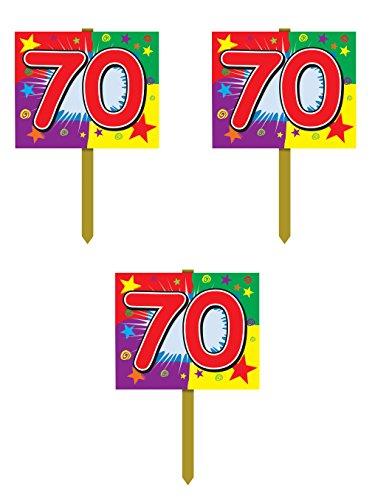 Beistle 54919Geburtstag Yard Zeichen, 12Zoll von 15Zoll 3-teilig mehrfarbig