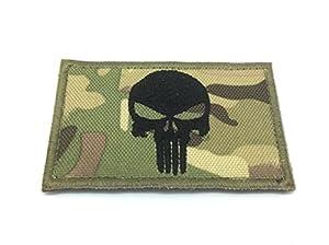 Punisher Multicam Camo Brodé Airsoft Morale Patch