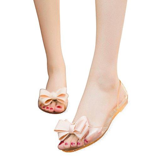 Zormey 2017 Schuhe Neue Flache Bowtie Jelly Frauen Hee Sandalen 9 Frau Xwz3710 Slip Auf Grand 4 35 Größe Süße Farben Sommer 40 rgqrB