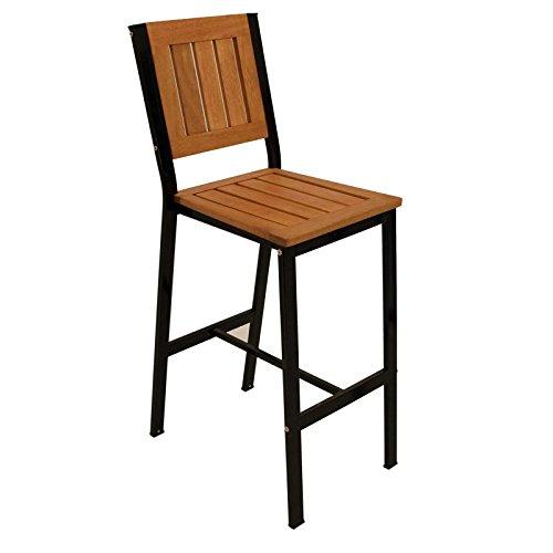 Barstuhl DARWIN, Metallgestell schwarz, Eukalyptusholz geölt Stuhl