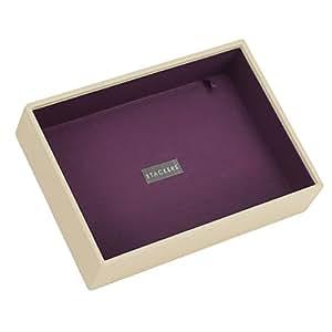 STACKERS jewellery box | classic cream & purple deep stacker