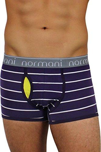 6 x Herren Boxershorts mit weichem Abschlussrand aus Baumwolle mit Elasthan Purple Stripes