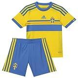 Schweden Minikit/Trikot Set Home 2013/14 Adidas Kindergröße (104)