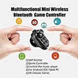 Tradico® New R1 Remote Controler Mini Wireless Bluetooth Gamepad for iOS Android VR Black