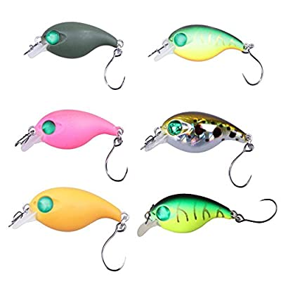 Vanpower LUSHAZER Mini Swim Fish Fishing Lure 28mm 2g Artificial Hard Bait Wobber by vanpower