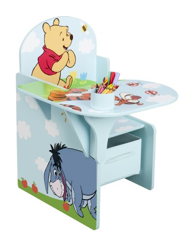 Delta Winnie the Pooh Tisch-Stuhl Kombination mit Staufach (Blau)