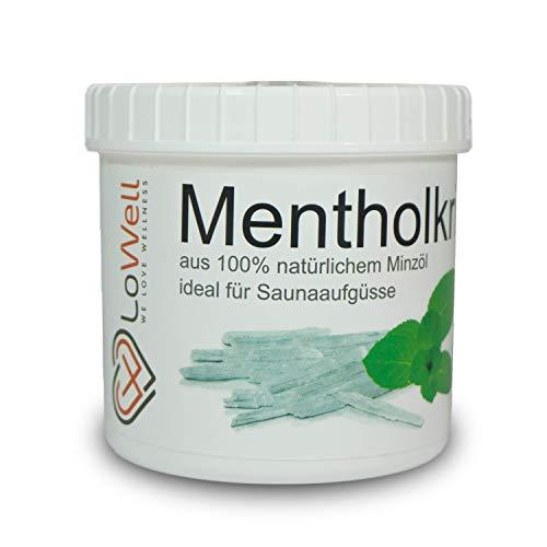 LoWell® ❤ - 200g Mentholkristalle Minzkristalle - Apotheker-Qualität Sauna Kristalle Menthol - Vorratspackung - 100% Reines Eukalyptus-minze