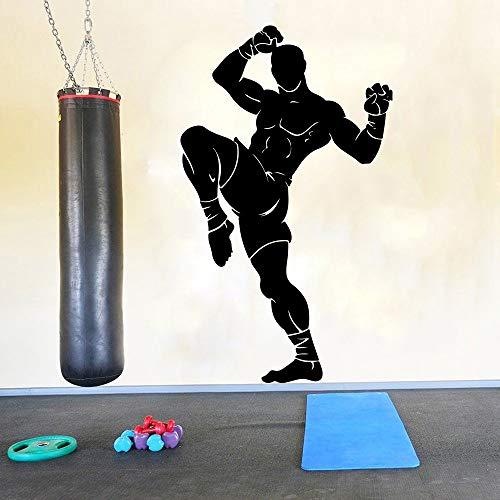 Dongwall Große Kämpfer Martial Arts Muay Thai Wandtattoo Gym Workout Taekwondo Karate Taekwondo Boxen Athleten Wandaufkleber Vinyl Kunst 2 94 cm x 56 cm -