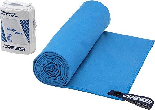 Cressi Microfibre Fast Drying Toalla de Sport, Unisex Adulto, Azul Claro, 50x100