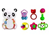 Blossom (Set of 6) Baby Teethers with Cute Attractive Panda Piggy Bank Storage