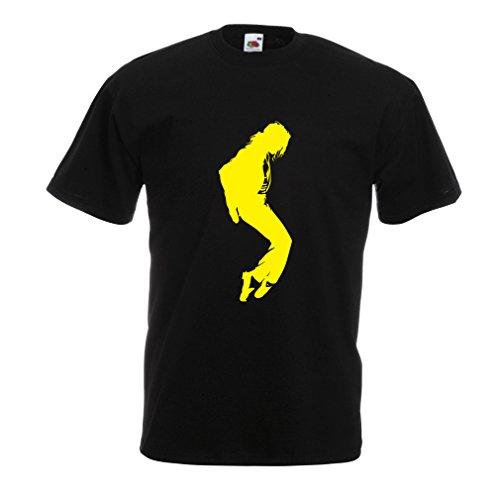Camisetas hombre Me encanta MJ - ropa de club de fans, ropa de concierto (XX-Large Negro Amarillo)