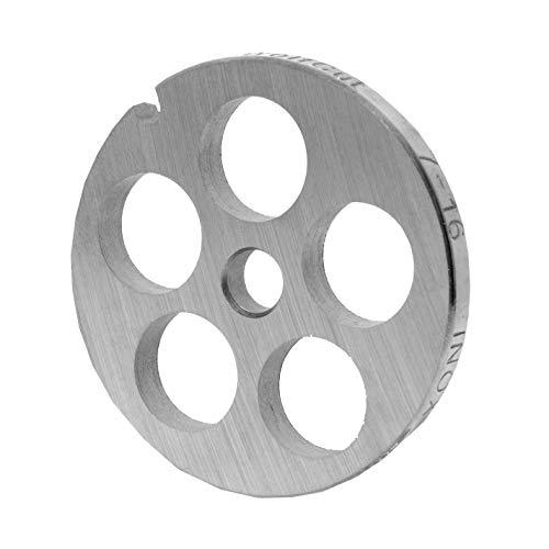 WolfCut Inox Lochscheibe Gr. 7-16,0 mm Bohrung - für Fleischwolf Jupiter - Bosch - Alexanderwerk