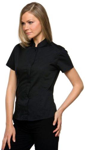 Kustom Kit - Bargear Mandarin Shirt Lady Black