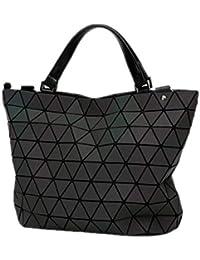 dd9bbc8f9ff39 KCNXCE Geometrie Tasche Pailletten Falten Umhängetaschen Leuchtende  Handtasche Diamant Lässig Tote Eimer Tasche