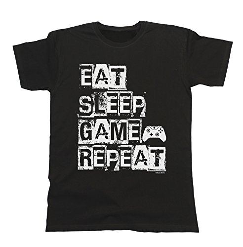 Hombres y Damas Eat Sleep Game Repeat...