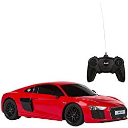 Rastar - Coche teledirigido 1:24 Audi R8 V10, color rojo, 1 (ColorBaby 85187)