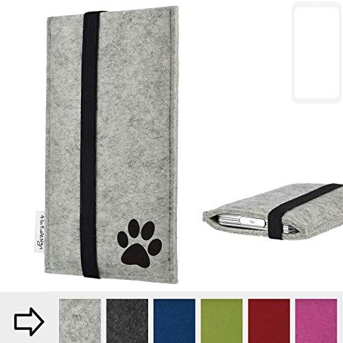 flat.design Handy Hülle Coimbra für Xiaomi Blackshark Helo individualsierbare Handytasche Filz Tasche fair Hund Pfote tatze
