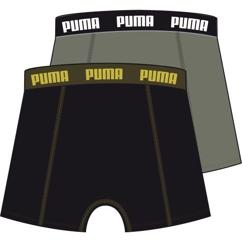 Puma Herren Boxershorts Basic 2er Pack, 521015001 371_black / khaki