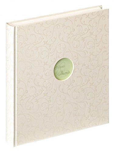 Walther Hochzeits Fotoalbum UNITY - für bis zu 184 Fotos 10 x 15 cm - 50 weiße Seiten - 30,5 x 28 cm - Hochzeitsfotoalbum mit Leinen-Einband - 15 Leinen