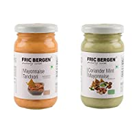 Fric Bergen Mayonnaise Tandoori Sauces and Coriander Mint Mayonnaise Dip/Sauce-Bottle Combo