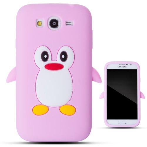 Zooky® rosa silicona pingüino funda / carcasa / cover para Samsung Galaxy Grand Duos I9082