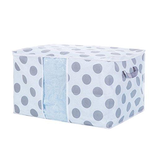 Storage box, Hinmay tessuti non tessuti pieghevole organizer Cube basket Bin con cerniera per vestiti maglione coperta armadio organizer Storage Bag box 60 * 43 * 36cm #4