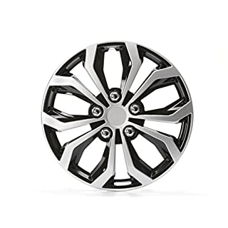 Cartrend 4 x Radkappen   Daytona Schwarz/Silber 15 Zoll