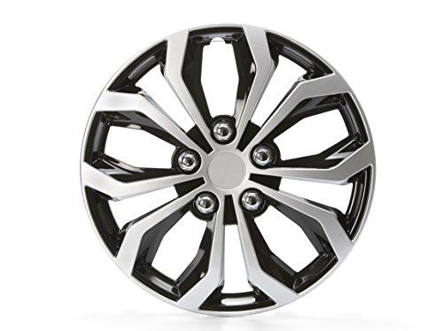 4 x Radkappen Unitec Daytona Schwarz/Silber 15 Zoll